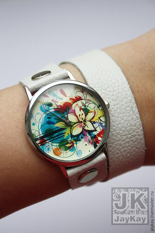 """Часы ручной работы. Ярмарка Мастеров - ручная работа. Купить Часы наручные JK """"Лилия"""" на длинном ремешке. Handmade."""