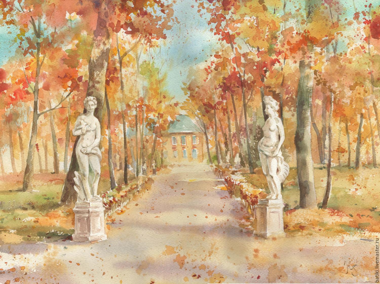 Рисунок летний сад санкт-петербург равномерно завиты
