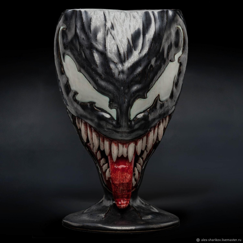 Venom  Venom /  Ceramic glass. 0.7 l. Marvel Comics.  Spider-Man, Wine Glasses, St. Petersburg,  Фото №1