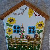 """Для дома и интерьера ручной работы. Ярмарка Мастеров - ручная работа Ключница-домик """"Ридна хата моя"""". Handmade."""
