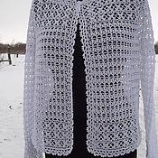 Одежда handmade. Livemaster - original item jacket crochet White. Handmade.