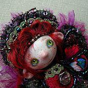 Украшения ручной работы. Ярмарка Мастеров - ручная работа Кукла-брошь Волшебная кукла-бабочка фея эльф. Handmade.