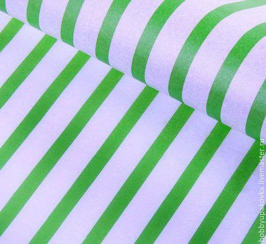 Упаковка ручной работы. Ярмарка Мастеров - ручная работа. Купить Бумага тишью (бело-зеленая полоска ). Handmade. Упаковка