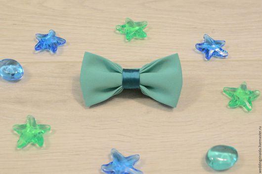 """Галстуки, бабочки ручной работы. Ярмарка Мастеров - ручная работа. Купить Детская бабочка-галстук """"Тиффани"""". Handmade. Тёмно-бирюзовый"""