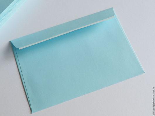 Упаковка ручной работы. Ярмарка Мастеров - ручная работа. Купить Конверты из дизайнерской бумаги 11,3х16 см. Handmade. Голубой