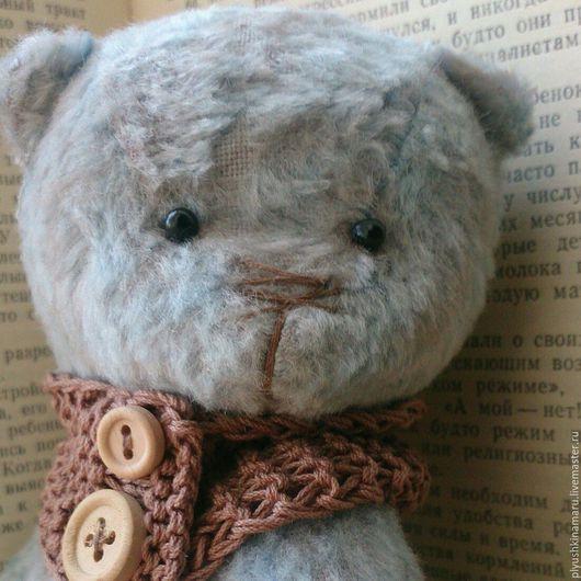 Мишки Тедди ручной работы. Ярмарка Мастеров - ручная работа. Купить Мишка тедди Тишка. Handmade. Голубой, плюш
