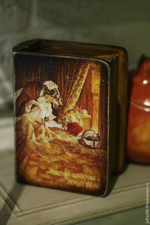 Шкатулки ручной работы. Ярмарка Мастеров - ручная работа. Купить И еще раз про Красную Шапочку - шкатулка-книжка. Handmade.