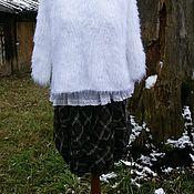 Одежда ручной работы. Ярмарка Мастеров - ручная работа Кофточка в стиле бохо -  лебяжий пух. Handmade.