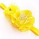"""Детская бижутерия ручной работы. Ярмарка Мастеров - ручная работа. Купить Повязка на голову для девочки """"Желтые цветы"""". Handmade. Желтый"""