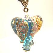 Украшения handmade. Livemaster - original item Author`s lampwork Pendant-heart