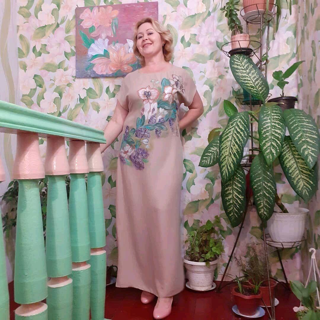Платье с росписью по ткани, Платья, Темрюк,  Фото №1