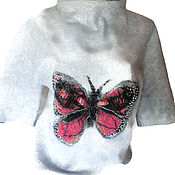 Одежда handmade. Livemaster - original item Tunic felted butterfly Wings. Handmade.