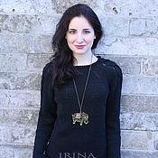 Одежда handmade. Livemaster - original item Favorite black sweater. Handmade.
