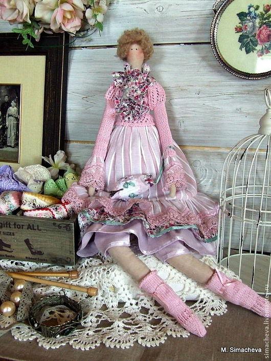 Куклы Тильды ручной работы. Ярмарка Мастеров - ручная работа. Купить Кукла Молли. Handmade. Бледно-розовый, кукла в подарок