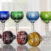 Vintage glasses handmade. Livemaster - original item Set the wine glasses Germany crystal. Handmade.