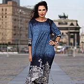 Одежда ручной работы. Ярмарка Мастеров - ручная работа Платье-бохо Голубой Ажур миди. Handmade.