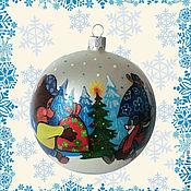 """Подарки к праздникам ручной работы. Ярмарка Мастеров - ручная работа Ёлочный шар """"Новогодний подарок"""". Handmade."""