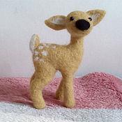 Куклы и игрушки ручной работы. Ярмарка Мастеров - ручная работа Оленёнок. Handmade.