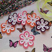 Для дома и интерьера ручной работы. Ярмарка Мастеров - ручная работа Вязаные цветочки. Handmade.