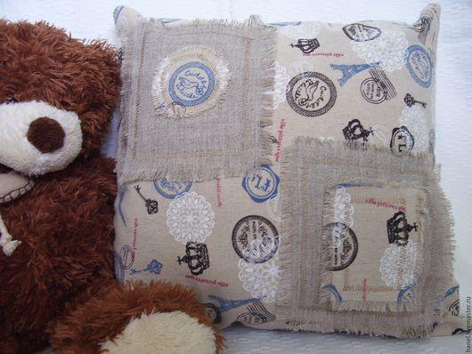 Текстиль, ковры ручной работы. Ярмарка Мастеров - ручная работа. Купить Подушка декоративная. Handmade. Комбинированный, декоративная подушка