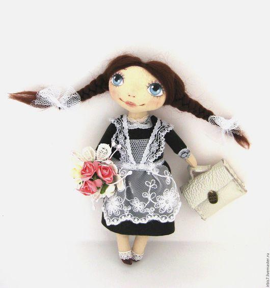 Коллекционные куклы ручной работы. Ярмарка Мастеров - ручная работа. Купить Школьница. Handmade. Коричневый, школа, школьница, ученица