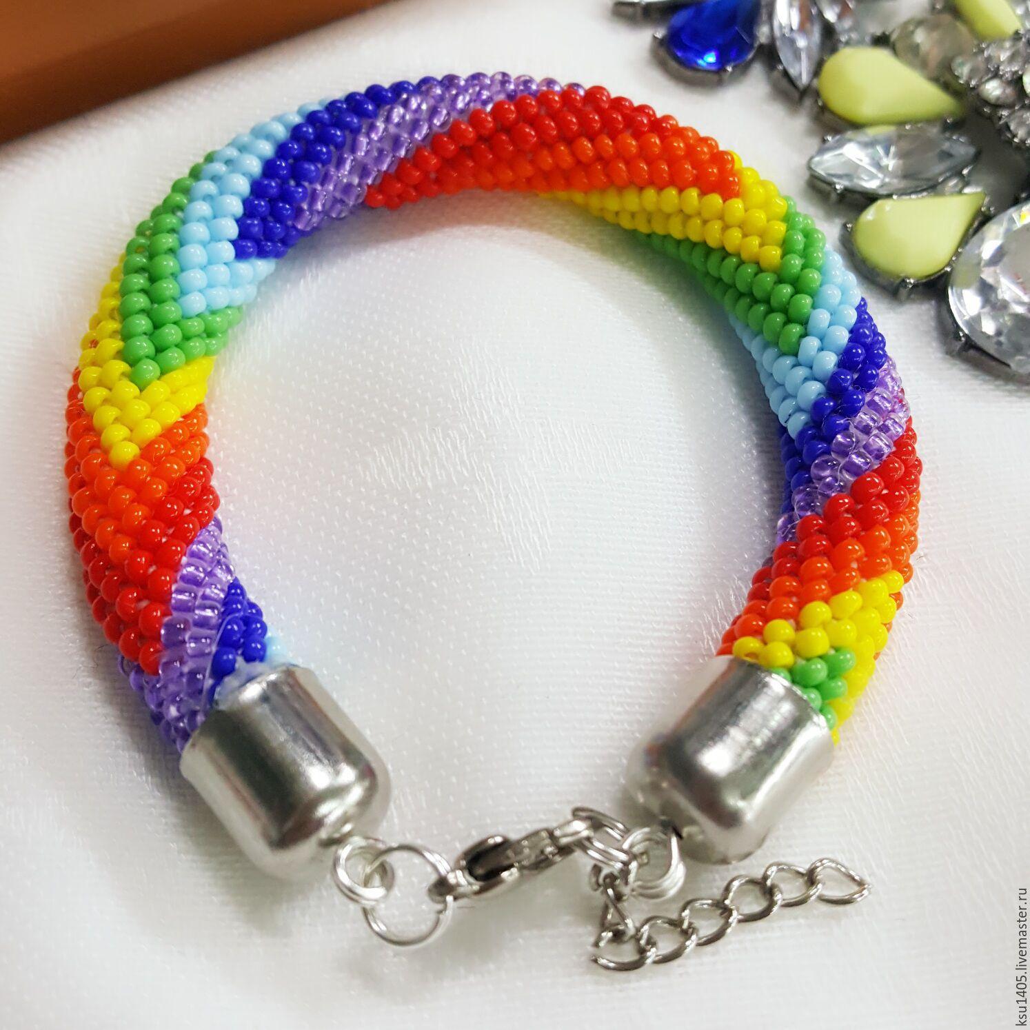 Harness bracelet bead rainbow, Bead bracelet, St. Petersburg,  Фото №1
