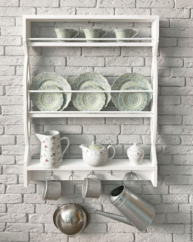 резная навесная полочка для посуды и специй скандинавском стиле, Полки, Зеленоград,  Фото №1