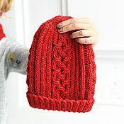 Аксессуары handmade. Livemaster - original item Cashmere knitted hat