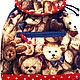 Рюкзаки ручной работы. Рюкзачок с медвежатами. Екатерина Дорохова. Ярмарка Мастеров. Медвежонок тедди