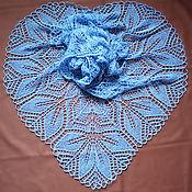 Аксессуары ручной работы. Ярмарка Мастеров - ручная работа Ажурная шаль вязаная спицами Харуни. Handmade.