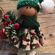 Куклы и пупсы ручной работы. Ярмарка Мастеров - ручная работа Новогодняя интерьерная куколка.. Handmade.