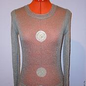 """Одежда ручной работы. Ярмарка Мастеров - ручная работа Джемпер вязаный """" Smoke gray"""". Handmade."""