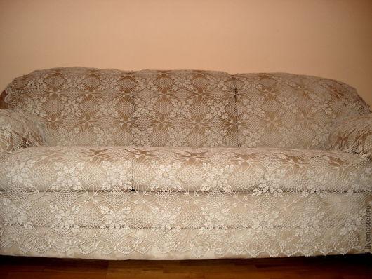 Комплекты аксессуаров ручной работы. Ярмарка Мастеров - ручная работа. Купить Накидка на диван или кровать. Handmade. Серый