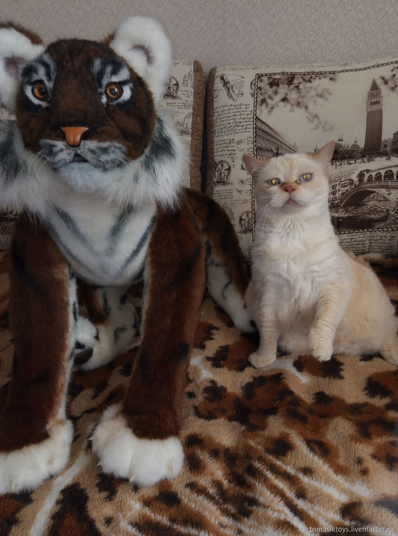 Реалистичный тигрёнок, Мягкие игрушки, Омск,  Фото №1