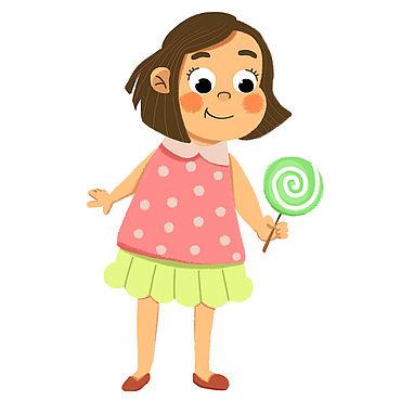 Дизайн и реклама ручной работы. Ярмарка Мастеров - ручная работа Иллюстрация с милой девчушкой. Handmade.