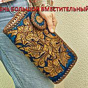 Сумки и аксессуары handmade. Livemaster - original item Clutch women`s leather
