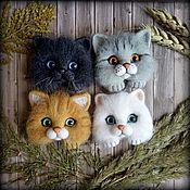Украшения handmade. Livemaster - original item Cat brooch, cat brooches, pocket brooch. Handmade.