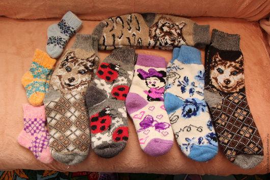 Носки, Чулки ручной работы. Ярмарка Мастеров - ручная работа. Купить Носки шерстяные взрослые. Handmade. Комбинированный, носки с орнаментом