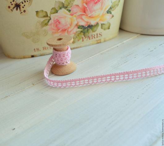 Шитье ручной работы. Ярмарка Мастеров - ручная работа. Купить Кружево Л485-К розовое. Handmade. Хлопковое кружево