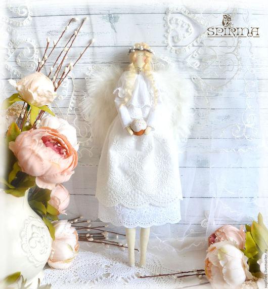 Куклы Тильды ручной работы. Ярмарка Мастеров - ручная работа. Купить Ангел Светлой Пасхи. Handmade. Белый, пасхальный декор