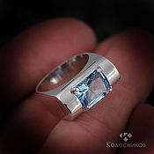 Украшения handmade. Livemaster - original item Ring with Topaz Business lady (Topaz, silver). Handmade.