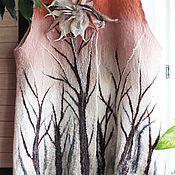 """Одежда ручной работы. Ярмарка Мастеров - ручная работа Жилет валяный """"Зачарованный лес"""". Handmade."""