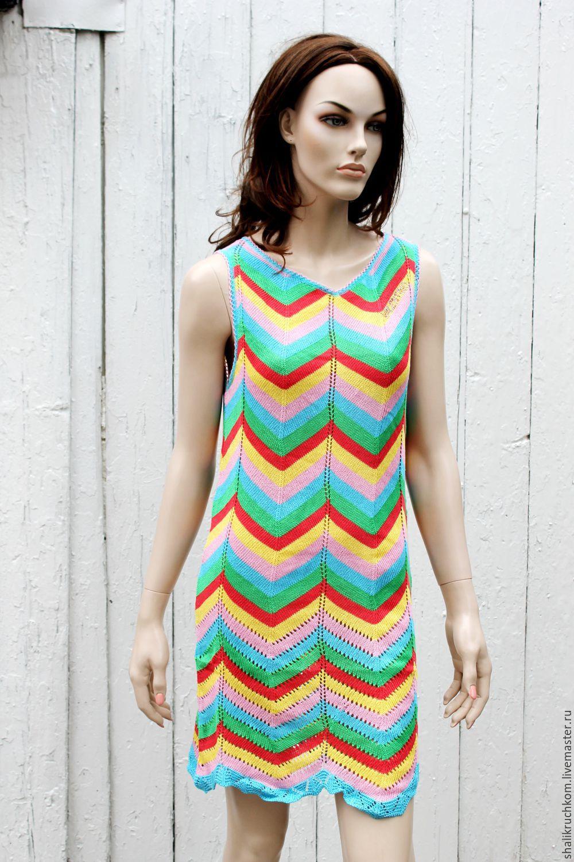 Трикотажное платье женское яркое фото