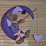 Куклы и игрушки ручной работы. Ярмарка Мастеров - ручная работа Лунный Мишка-Сердцелов. Handmade.