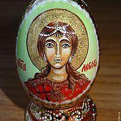 Яйца ручной работы. Ярмарка Мастеров - ручная работа Яйцо пасхальное с иконкой по именам святых. Handmade.