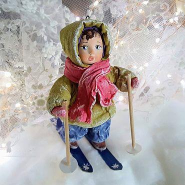 """Куклы и игрушки ручной работы. Ярмарка Мастеров - ручная работа Игрушка на елку из ваты """" Маруся"""". Handmade."""