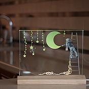 Для дома и интерьера ручной работы. Ярмарка Мастеров - ручная работа Девочка и луна. Handmade.