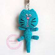 Куклы и игрушки handmade. Livemaster - original item Kitty keychain. Knitted.. Handmade.