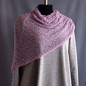 Одежда handmade. Livemaster - original item Cape poncho associated knitting yarn cotton acrylic color purple. Handmade.