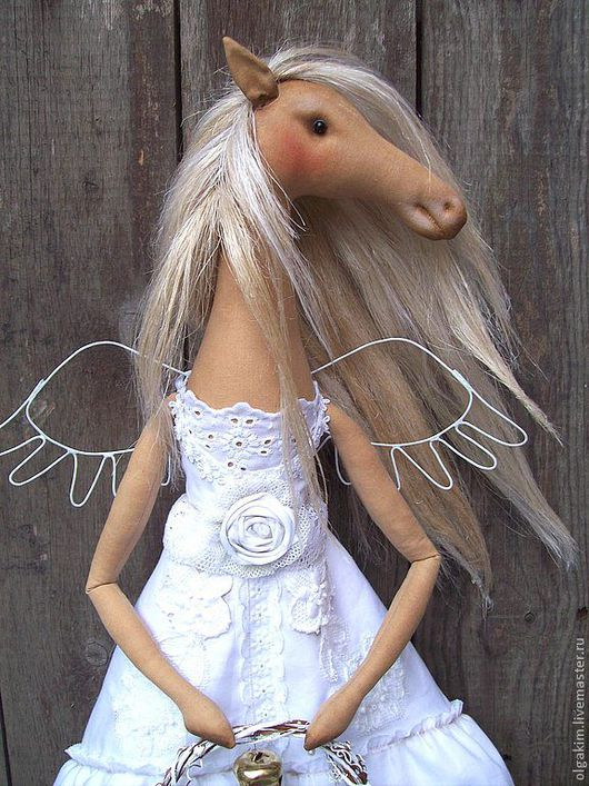 Игрушки животные, ручной работы. Ярмарка Мастеров - ручная работа. Купить Мне бы лошадью белой...... Handmade. Белый, египетский хлопок